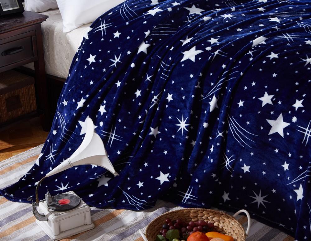 Super Soft Fleece Throw Blanket fashion Galaxy design Blankets flannel soft Plaids twin full queen king size 3