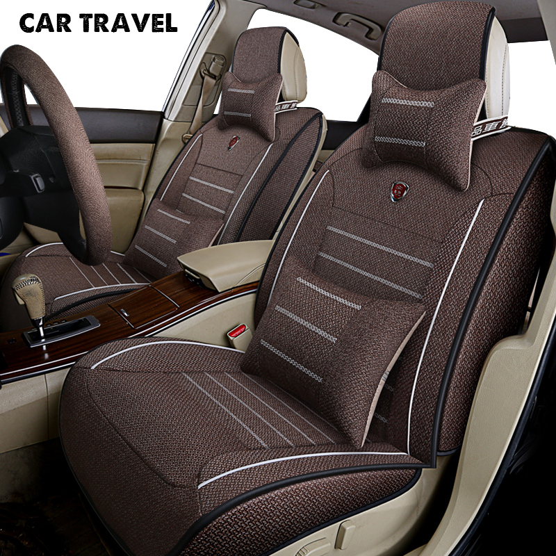 CAR TRAVEL flax car seat cover for toyota corolla crown fortuner land cruiser 100 200 mark 2 premio auto accessories car-styling pu leather car seat cover universal 5 colors auto chair pad covers for toyota corolla rumion runx cruiser fortuner gt86 harrier