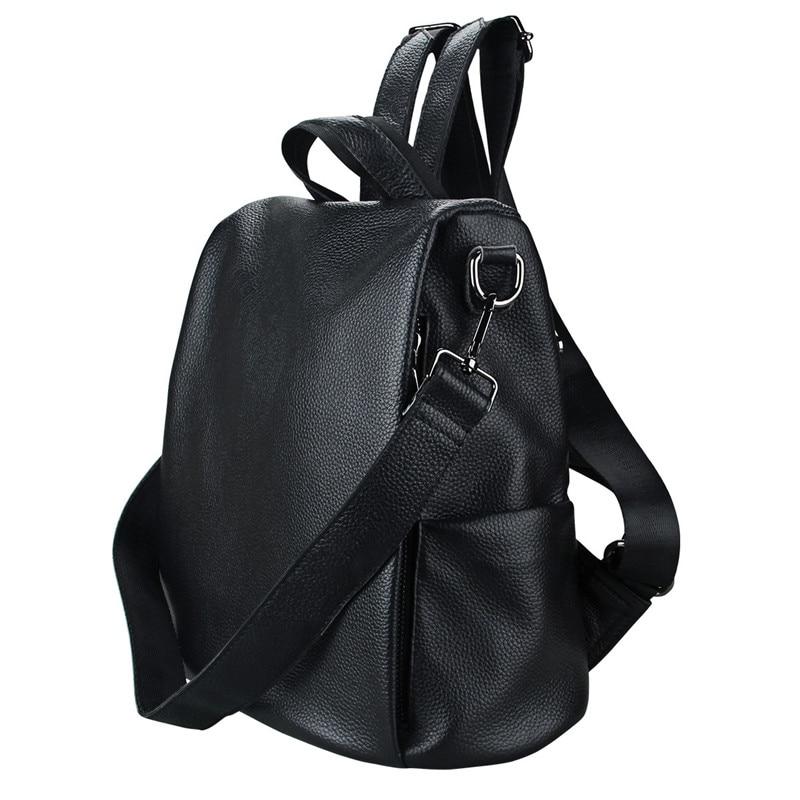 FSINNLV Women Backpack Genuine Leather Female Travel Bag Large Capacity Women Crossbody Bags School Backpack for Teenagers HB155 womens backpack bag mens backpack female school bag for teenagers laptop backpacks travel bags large capacity student schoolbag