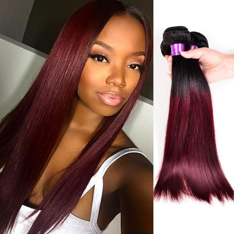 10a peruvian straight virgin hair ombre human hair straight