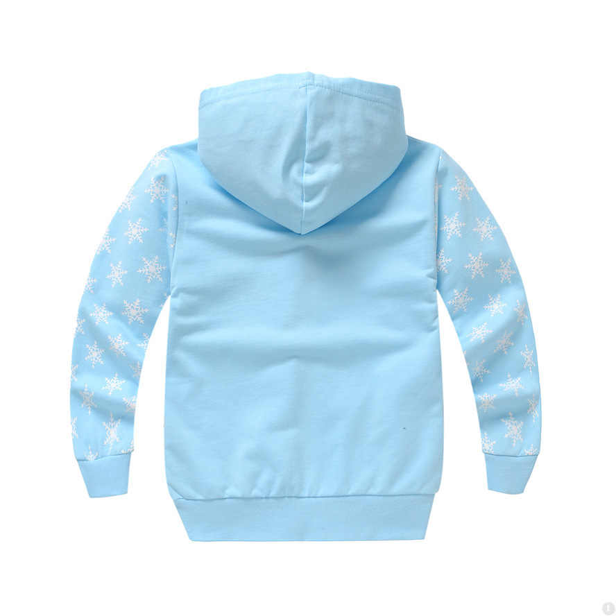 Girls Jackets Anime Anna Elsa Baby Jacket Thin Style Cotton Spring And Autumn Kids Jacket Zip Hooded Girls Coat Kid Clothes