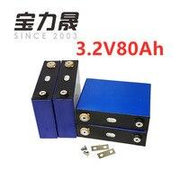 4 шт. 3.2v80AH lifepo4 ячейка высокой емкости 12,8 В не 100AH батареи для солнечной энергии 12 В 85Ah батарея ebike долгий срок службы 3500 циклов
