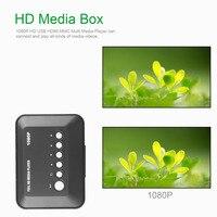 1080P Full HD HDMI Media Player Box SD MMC TV Videos SD MMC RMVB MP3 Multi