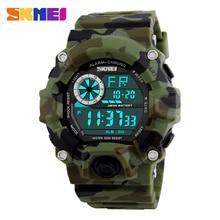 SKMEI Hombres Deportes Relojes Hombre Reloj 5ATM Buceo Nado Moda Multifuncional Digital Reloj Militar del relogio masculino