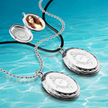 DIY ideas you can put photos in locket Jewelry box 925 sterling silver beads leather cord pendant necklace