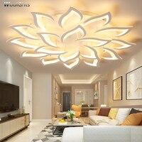 Wooights Lustre Chandelier Light for Living room Bedroom Surface mounted flower shape Modern Ceiling Chandelier Lighting