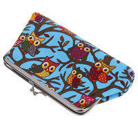 Hot Fashion Cartoon Coin Purse Money Bag Wallet Owl Pattern(sky blue)