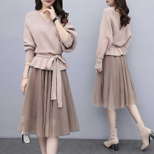 Plus Size 4xl Top And Skirt Women Two Piece Outfits Stylish Conjunto  Feminino Year-old 4bfd49e90017