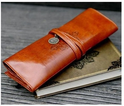 Valentine's day Twilight New Moon Pencil Case Cosmetic Leather Pen Pouch Bag MAKE UP brush art   Free shipping JHB-236