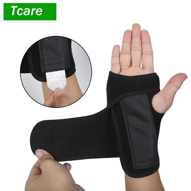 1Pair Wrist Support, Wrist Brace for Carpal Tunnel, Adjustable Sports Wrist Brace Support for Tendonitis, Sprains, Weightlifting