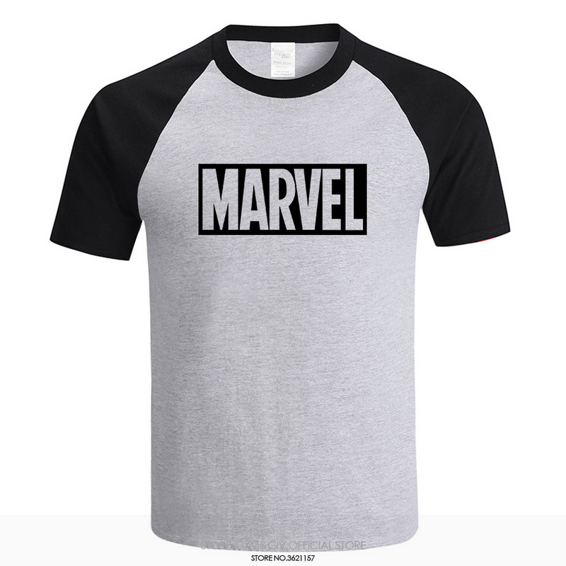 2018 New Fashion MARVEL   t  -  Shirt   men High Quality cotton short sleeves Casual male tshirt marvel   t     shirts   men tops tees