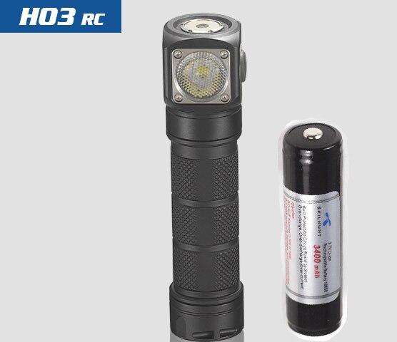Nuovo Skilhunt H03 H03R H03F RC 1200 lumen freddo o bianco neutro USB magnetica di ricarica torcia elettrica + fascia + batteria - 3