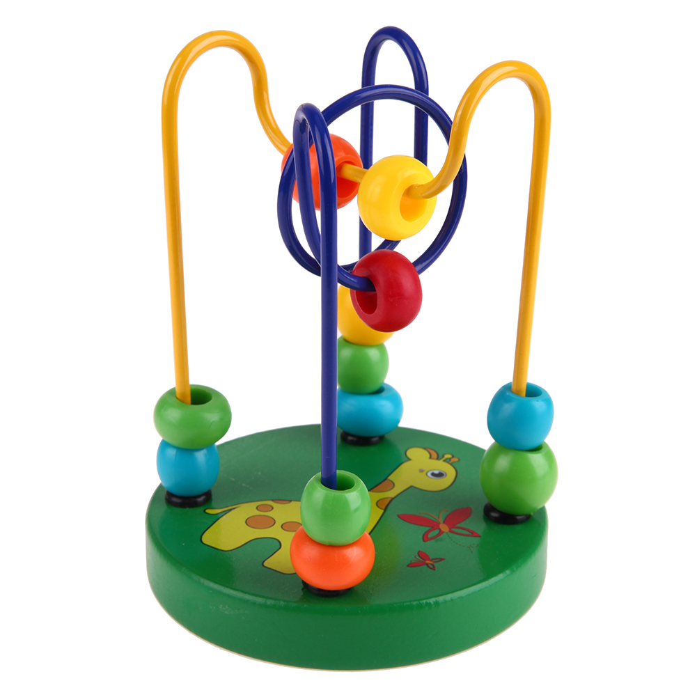 Wooden Wire Maze Childrens Toys Baby Doll kids Educational Toys Wooden Beads String Beads Childrens Hand Eye Coordination Toy