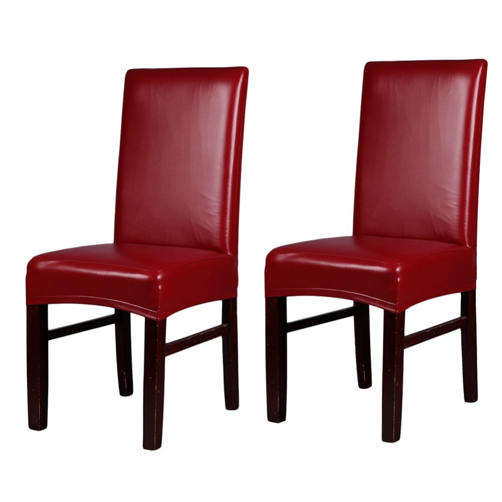 Merveilleux Leather Pu Spandex Stretch Dining Chair Covers Slipcovers Restaurant For  Weddings Banquet Hotel Dining Room Chair Cover In Chair Cover From Home U0026  Garden On ...