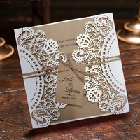 Wedding Invitation White Lace Invitation Cards Sample Listing