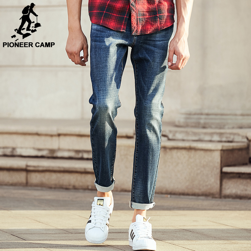 Pioneer Camp New jeans men spring autumn brand clothing high comfort soft male denim trousers casual denim pants men 611004 pioneer camp new summer thin jeans men brand clothing casual straight denim pants male top quality denim trousers anz703095