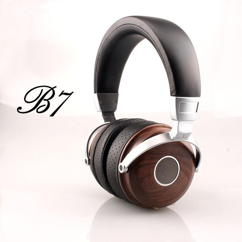 ФОТО Original Blon B7 Wooden Headphones Headset DJ Metal Hifi Headphone Stereo Open Monitor Earphone With Beryllium Alloy Driver