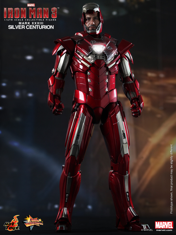 """1/6 scale figure doll SILVER CENTURION Iron Man Tony 12"""" Action figure doll Collectible Figure model toys"""