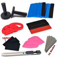 12 in1 Car Wrap Application Tool 3M Blue Squeegee+ Magnet + Lil Chizler Squeegee