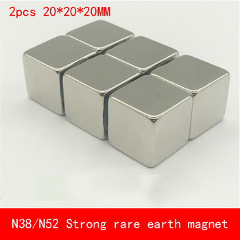 2PCS cube 20x20x20mm N52 Super Strong Rare Earth Magnet Permanent N38 N52 Magnets 20*20*20MM 1pcs long strip 150x20x10mm n52 super powerful strong rare earth magnet permanent n52 plating nickel magnets 150mm 20mm 10mm