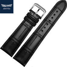 JEAYOU High Quality Men Alligator Leather Watch Strap Band For Omega/Cartier/Piaget With Pin Buckle 18/19/20/21/22mm