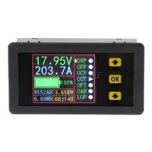 Verificador da bateria da carga-descarga do multímetro de digitas, medidor do ampère do voltímetro da c.c. 0-90 v 0-20a do volt da tela colorida do lcd