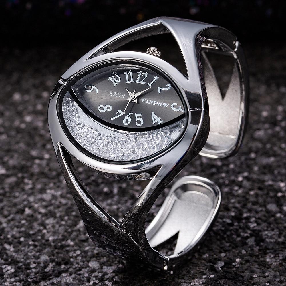 Luxury Silver Women's Watches Bracelet Watch Women Watches Luxury Rhinestone Ladies Watch Clock Reloj Mujer Relogio Feminino