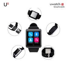 De alta calidad de la manera Uwatch U11 Apoyo reloj inteligente tarjeta SIM Para el iphone y Samsung Android relogio del Teléfono inteligente teléfono inteligente