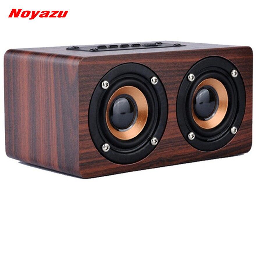 Noyazu Mini Portable Bois Sans Fil Bluetooth Haut-Parleur 3D Double Surround Haut-Parleur USB De Charge altovaz