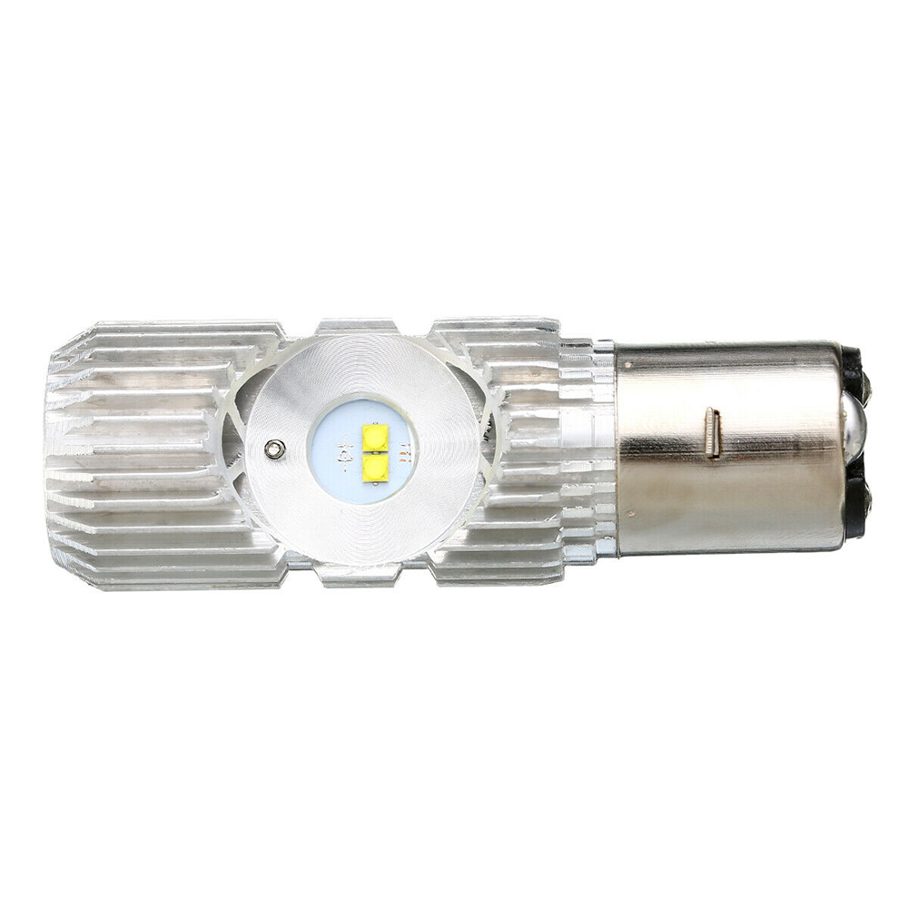 1PCS 12V Motorbike Light BA20D 4LED Motorcycle Headlight Bulb For Vespa Kymco Suzuki Honda 6500K 140