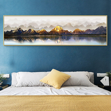 Gloden Riverside Canvas Painting Modern Landscape Poster And Print Wall Art Abstract Home Decor Cuadro For Living Room Bedroom