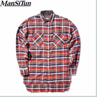 Hip Hop Most Popular Justin Bieber Fear Of God Fog Men Unisex Flannel Long Sleeved Plaid