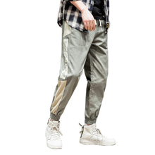 Side Pockets Cargo Harem Pants Men Spring Casual  Loose Elastic Waist Cotton Hip Hop New Male Trousers Mens Joggers Homme
