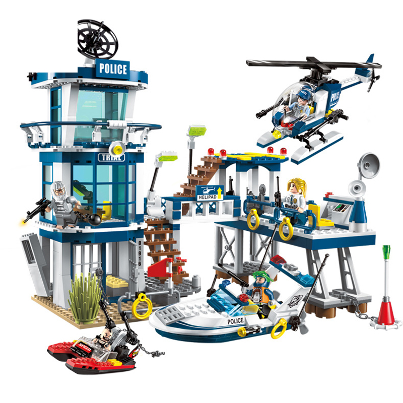 1916 565pcs SWAT/Police Constructor Model Kit Blocks Compatible LEGO Bricks Toys for Boys Girls Children Modeling