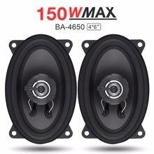 Haut-parleur de voiture, 2 pièces, 4x6 pouces, 150W, Audio, HiFi, gamme complète, fréquence coaxiale, Auto haut-parleur