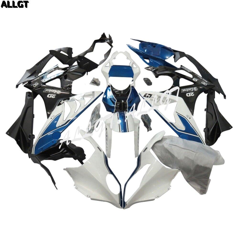 Injection White Black Bule Fairing Kit BodyWork for BMW S1000RR 2010 2011 2012