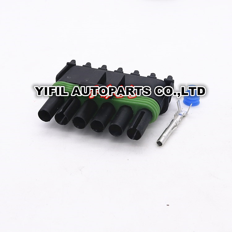 100pcs lot 6 Pin Way Female font b Automotive b font Weather Pack Electrical Sealed font online get cheap automotive wire harness delphi aliexpress com  at soozxer.org