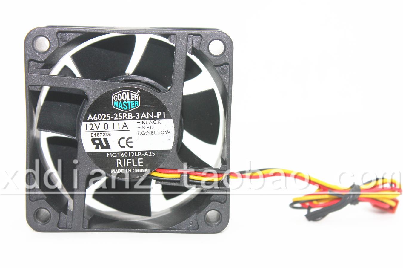 A6025-25RB-3AN-PI Fan 6025 12V 0.11A 6cm 6cm 3-проводной ультра-тихий компьютерный вентилятор