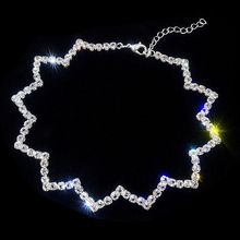 Wave Necklace Crystal