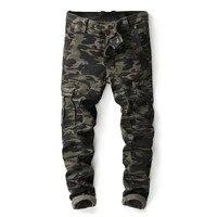 บุรุษทหารขนส่งสินค้ากางเกงซิปJoggersพรางยุทธวิธีกางเกงผู้ชายStreetwearกางเกง