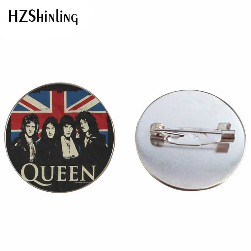 2019 New Design Rock Band Queen Brooch Pin Fashion Pins Queen Band Musician Jewelry Brooches for Men Women
