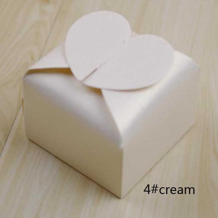الحلوى مربع حقيبة الشوكولاته ورقة هدية حزمة ل حفل زفاف وعيد ميلاد الإحسان لوازم الديكور DIY استحمام الطفل لطيف القلب Wh