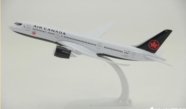 US $23 98   20cm Metal Airplane Model Black Air Canada Airlines B787 Boeing  787 Airways Simulation Plane Model W Stand Aircraft Gift-in Diecasts & Toy