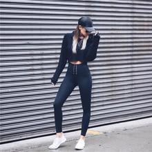 2 piece set women suit workout clothes fitness clothing outfit crop top legging female sweatshirt pants two piece set S1417Y
