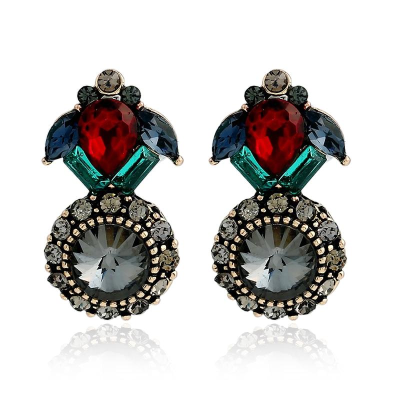 crystal earrings retro luxurious crystal screw bohemian earrings boucle d 39 oreille pendante