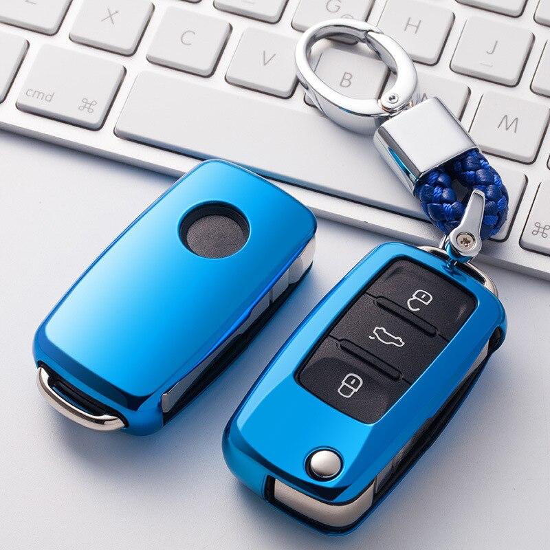 2019 nowy miękki TPU etui na kluczyki samochodowe dla VW Golf Bora Jetta POLO GOLF Passat Skoda Octavia A5 Fabia seat ibiza Leon ochrona na pas samochodowy