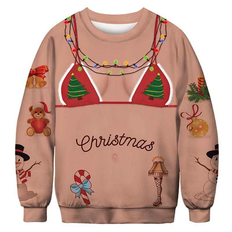 Cat Christmas Sweater.Men Women 2019 Muscle Cat Christmas Sweater Vacation Santa Elf Pullover Funny Womens Men Sweaters Tops Autumn Winter Clothing