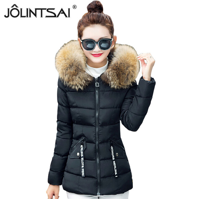 New Coats & Jackets 2016 Fashion Short Parka Hooded Winter Jacket Women Big Fur Collar Thicken Winter Coat Women's Jackets