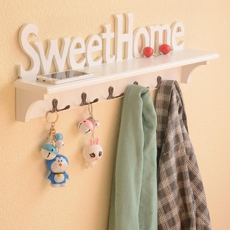 Creative wooden hook  clapboard  rack  wall hanger solid wood hat  hook  bedroom clothes rack  key hanger wood