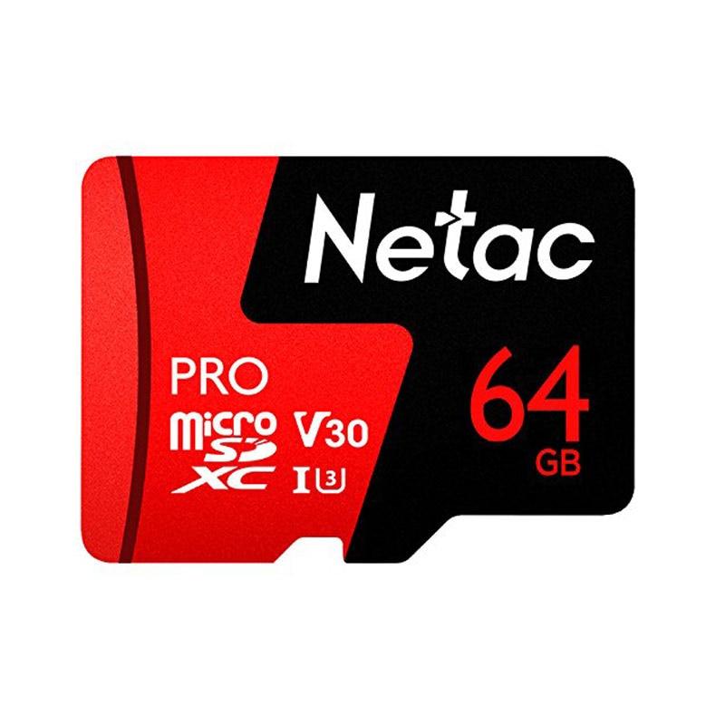 Netac micro sd 64gb P500 Pro Class 10 memory Card microSDXC V30 U3 UHS-I TF Flash Card 64 gb for mobile phone and Sport Camera